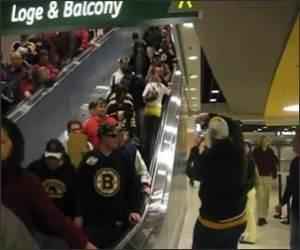 Stupid Escalator Girl Funny Video