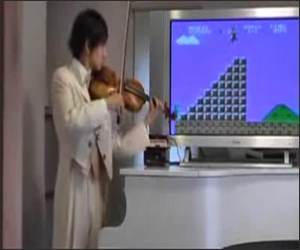 Super Mario Violin Funny Video