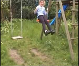 Swingset Face Catch Funny Video