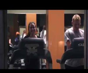 talking treadmill prank Funny Video