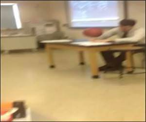 Teacher Spins Basketball while Grading Funny Video