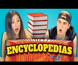 teens react to encyclopedias Funny Video