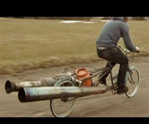 the jet bicycle Funny Video