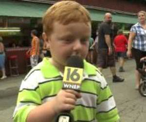 This kids awesome live interview Funny Video