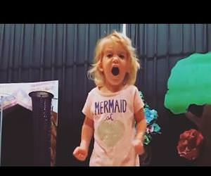 toddler singing the best alphabet Funny Video