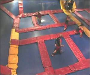 Trampoline Dodgeball Video