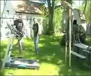 Treadmill Stilts Funny Video