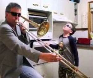 Trombone and Oven Funny Video