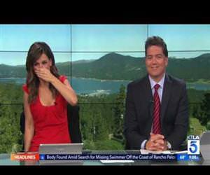 tv reporter gets puked on Funny Video