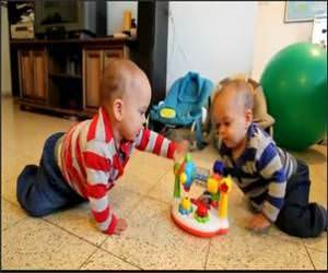 The Twin Baby Dance Funny Video