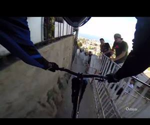 urban downhill mountain biking Funny Video