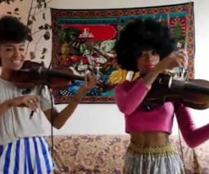 violin cover of shake it off Funny Video