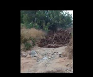 what a flash flood looks like up close Funny Video