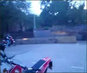 Huge Wheelie Fail Funny Video