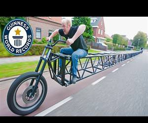worlds longest bike Funny Video