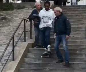 getting down the steps