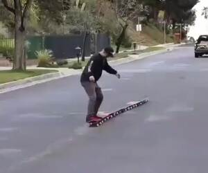 that is some intense skateboarding