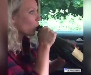 chug it all down lady