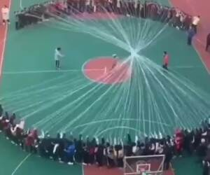 that is one huge game of jump rope