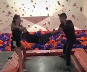 the child toss