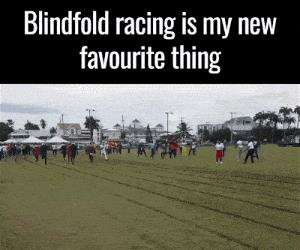 blindfolded racing