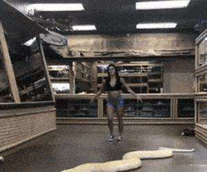 flipping around with my pet snake