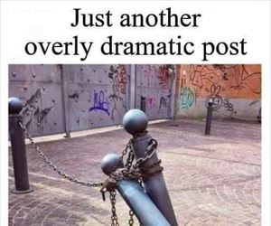 a dramatic post