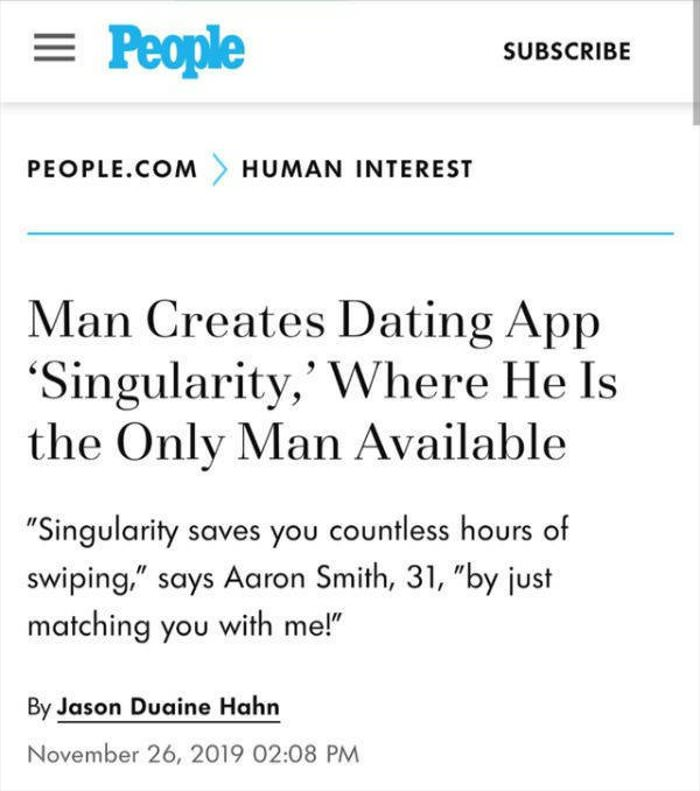 a new dating app