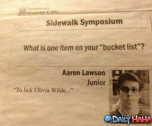 Bucket List funny picture