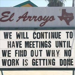 continue having meetings