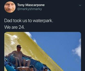 dad took us to the waterpark