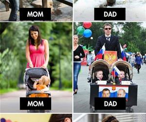 difference between moms and dads funny picture