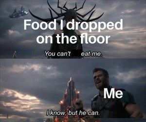 dropped my food