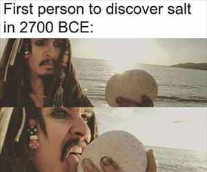 first person to discover salt
