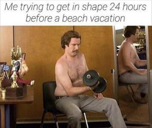 getting in shape