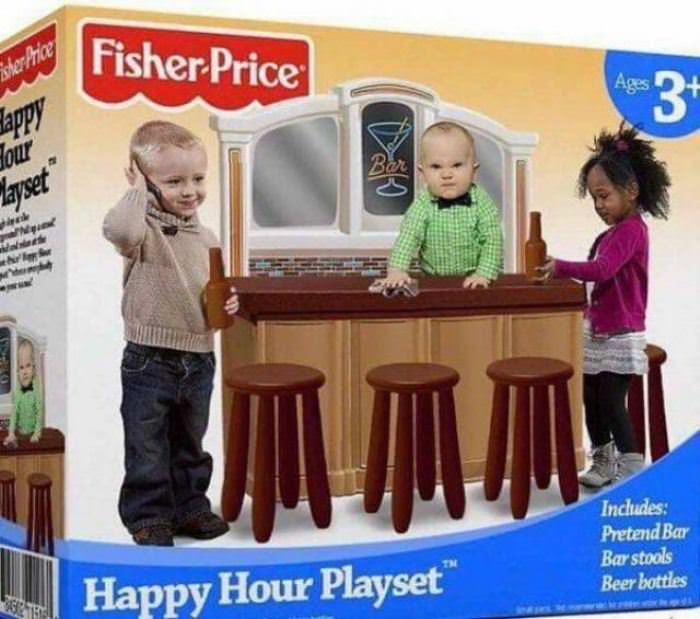 happy hour playset funny picture