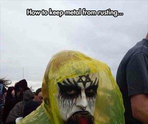 how to keep metal from rusting