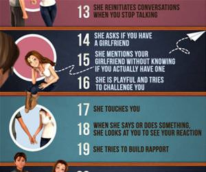 how to tell when a girl likes you funny picture
