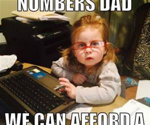 i ran the numbers dad funny picture