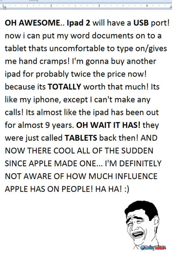 iPad 2 funny picture