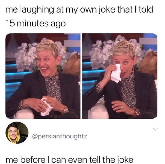 laughing at that joke