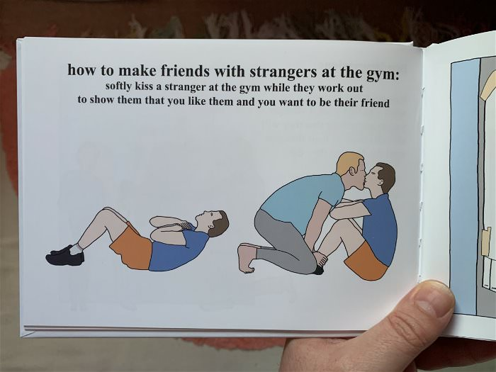 make friends with strangers