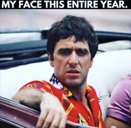 my face this year
