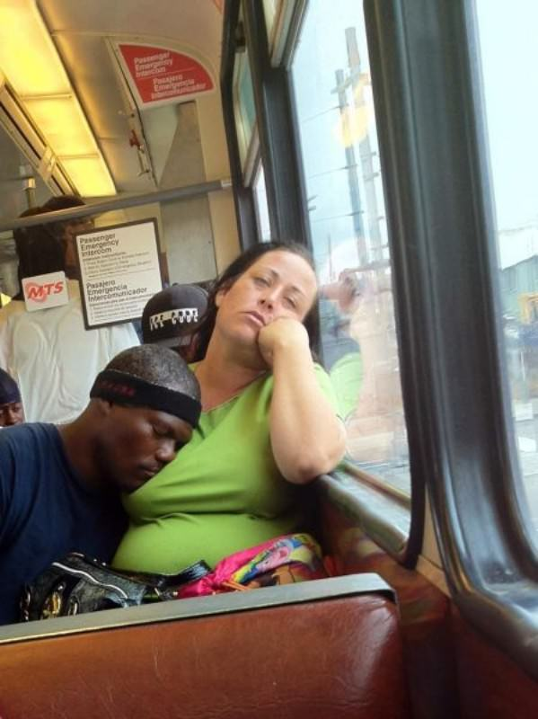 Funny Pictures Bank: Funny Woman and Man Having Nap in Bus Funny Girls  Pictures