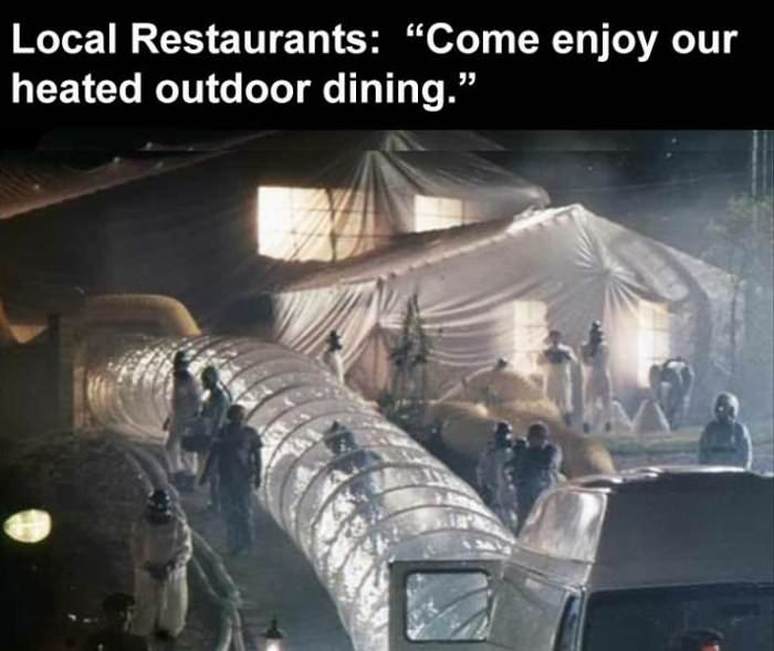 our outdoor dining