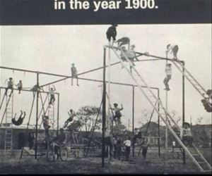 playgrounds 100 years ago funny picture