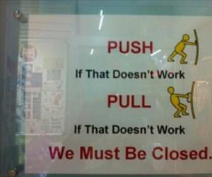 push and then pull maybe