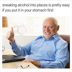 sneaking alcohol in