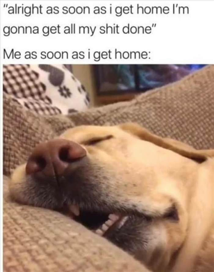 soon as i get home