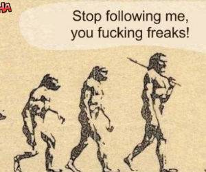 Stop Following Me Freaks Funny picture
